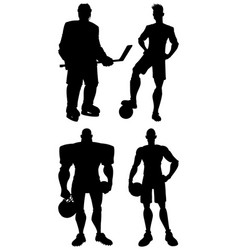 Athletes silhouettes set vector