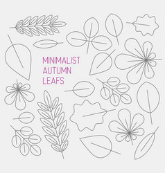 Autumn minimalistic abstract floral background vector