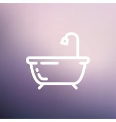 Bathtub thin line icon vector image