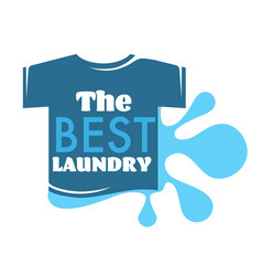 best laundry t-shirt and water splash isolated vector image