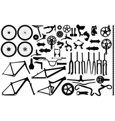Bicycle Part Silhouettes Royalty Free Vector Image