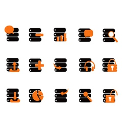 black database icons vector image