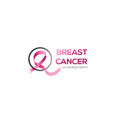 breast cancer awareness ribbon symbol vector image