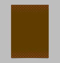brown geometrical halftone pattern flyer template vector image