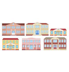building facade school university kindergarten vector image