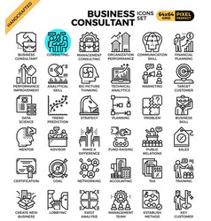 Business consultant icons vector