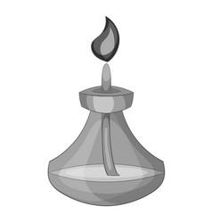 Chemical burner icon monochrome vector