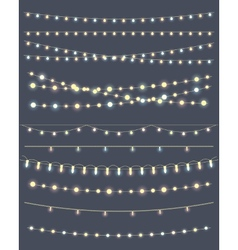 Christmas lights vector