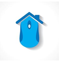 Computer mouse make a home icon vector image
