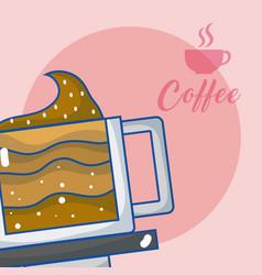 delicious coffee concept vector image