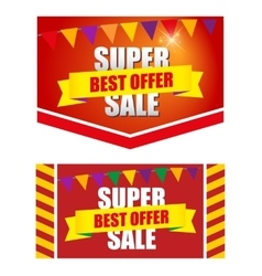 Design banner template discounts vector image