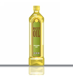Digital yellow olive and sunflower oil vector image