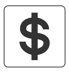 dollar sign USD symbol of currency finance vector image