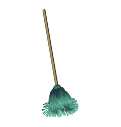 Dust mop icon cartoon style vector