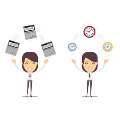 Financial advisor - bookkeeping services and time vector