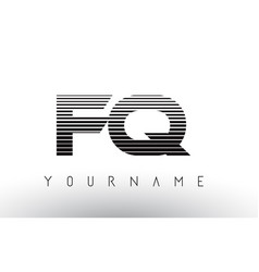 fq f q black and white horizontal stripes letter vector image