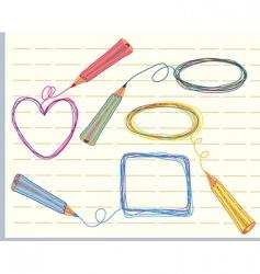 Frames and pencils vector