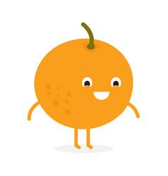 fruit orange cute fruit character vector image