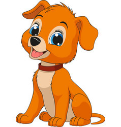Funny childs dog vector