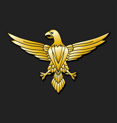 golden eagle - emblem vector image