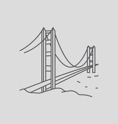 Golden Gate Bridge vector image