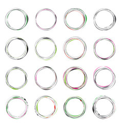 hand drawn circle vector image