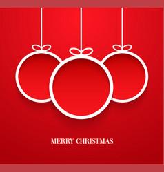 Hanging christmas balls vector