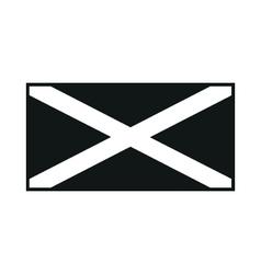 Jamaica flag monochrome on white background vector image