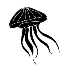 jelly fish icon in black style isolated on white vector image