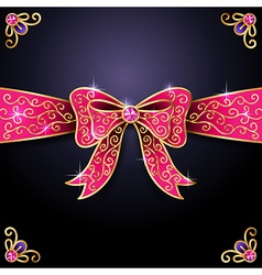 Jewel bow vector