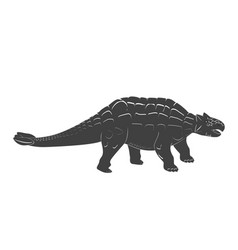 Little ankylosaurus cartoon baby jurassic period vector