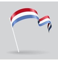 Luxembourg wavy flag vector