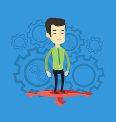 man choosing career way vector image