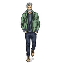 Man model dressed vector