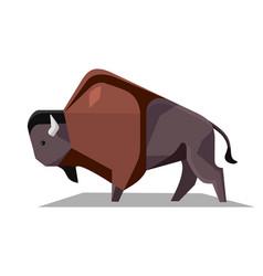 Minimalistic image of bison vector