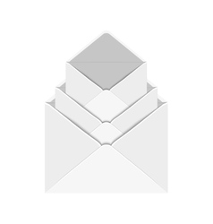 modern 3 envelope on white vector image