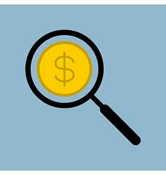 money search manifying glass vector image