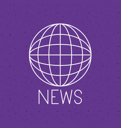 news with planet sphere design vector image