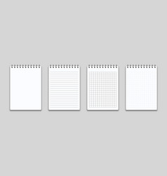 notebook or memo notepad with binder note pad or vector image
