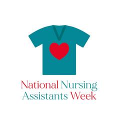 Nursing assistants week vector