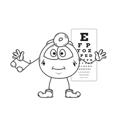 Ophthalmologist sketch vector