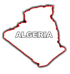 Outline map of algeria vector