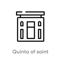 Outline quinta saint peter alexandria icon vector