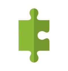 Puzzle piece icon game design graphic vector image
