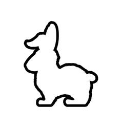 Rabbit animal farm pet character icon vector