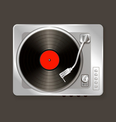 realistic music gramophone vinyl vector image