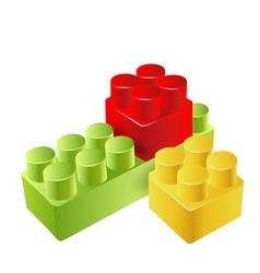 Realistic toy blocks vector