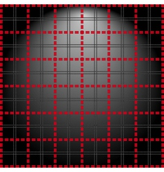 Red grid on a lighting background vector
