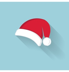 red Santa Claus hat vector image