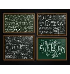 School blackboards set vector